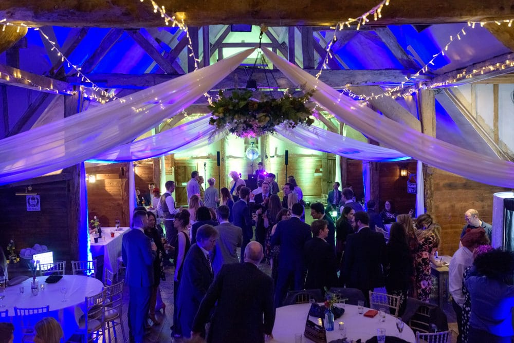 Lains Barn disco and evening celebrations