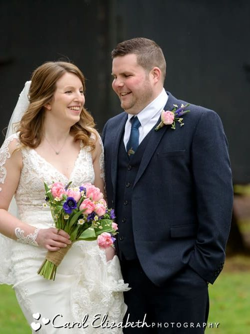 Informal wedding photographer at Lains Barn