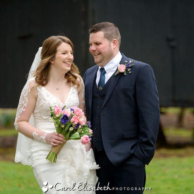 Informal wedding photographer at Lains Barn