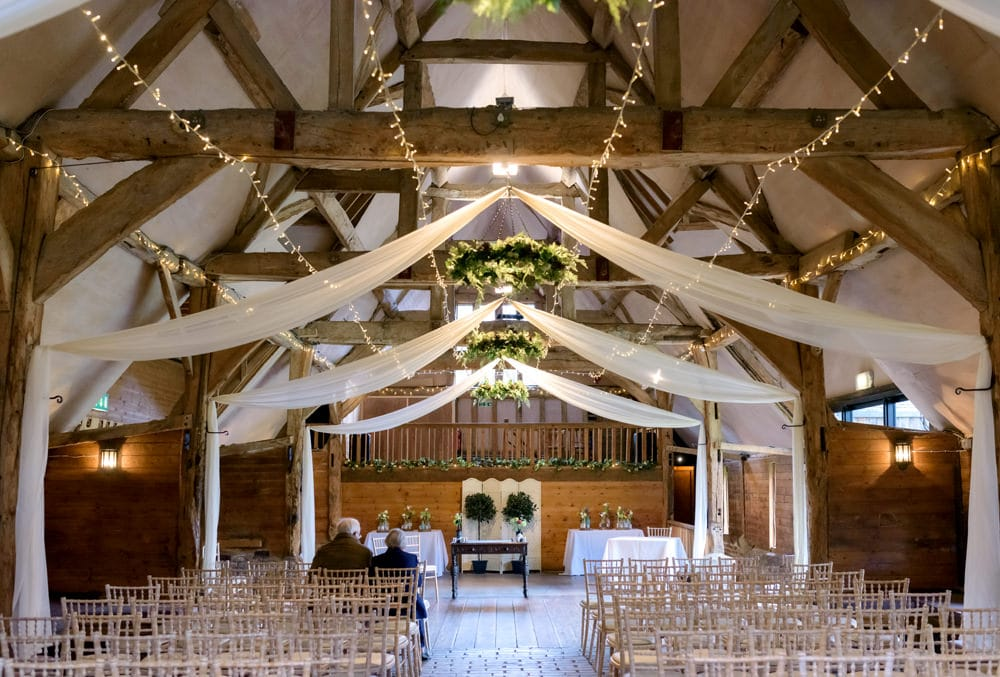 Lains Barn wedding ceremony
