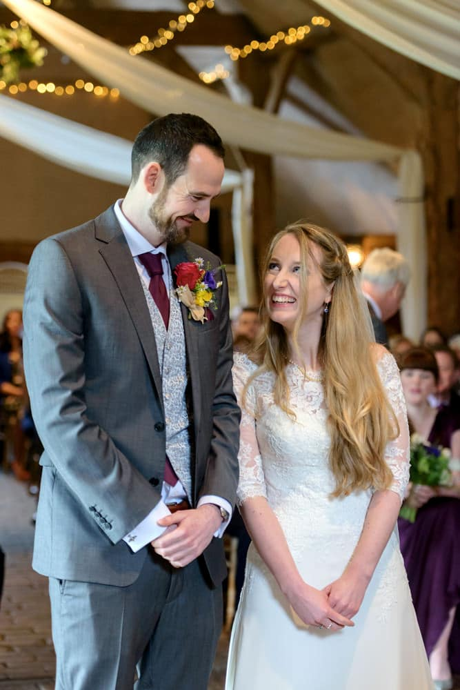 Civil wedding ceremony in Oxfordshire at Lains Barn