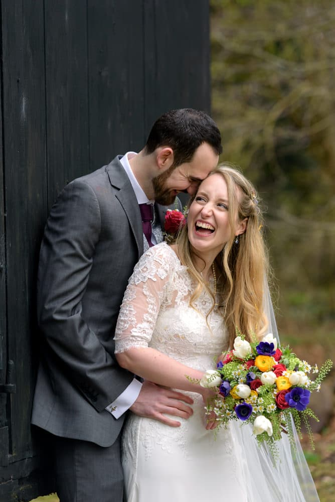 Fun and relaxed wedding photography at Lains Barn