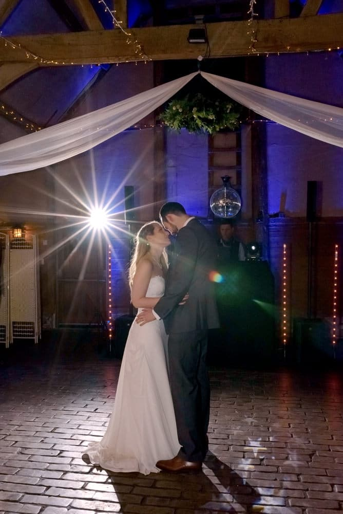First dance with lights at Lains Barn