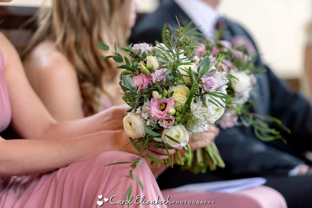 Close up of wedding flowers by Herbert and Isles florist