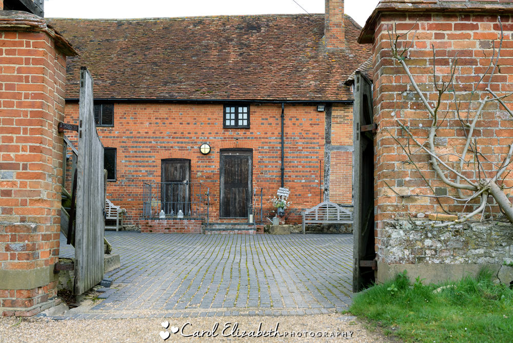 The courtyard at Nether Winchendon House