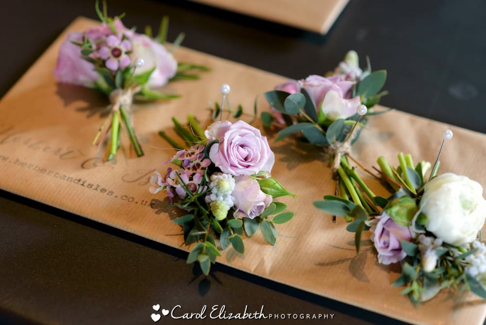 Herbert and Isles wedding flowers and buttonholes