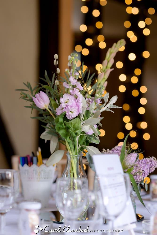 Nether Winchendon House wedding reception flowers