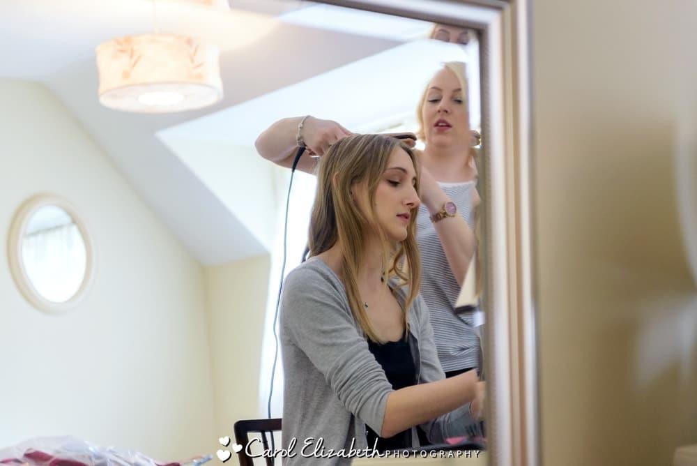 Bridal hair and make-up at Nether Winchendon House
