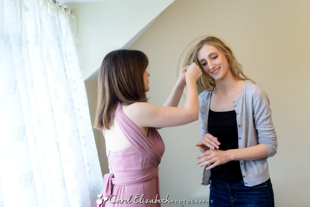 Bridal preparations at Nether Winchendon House