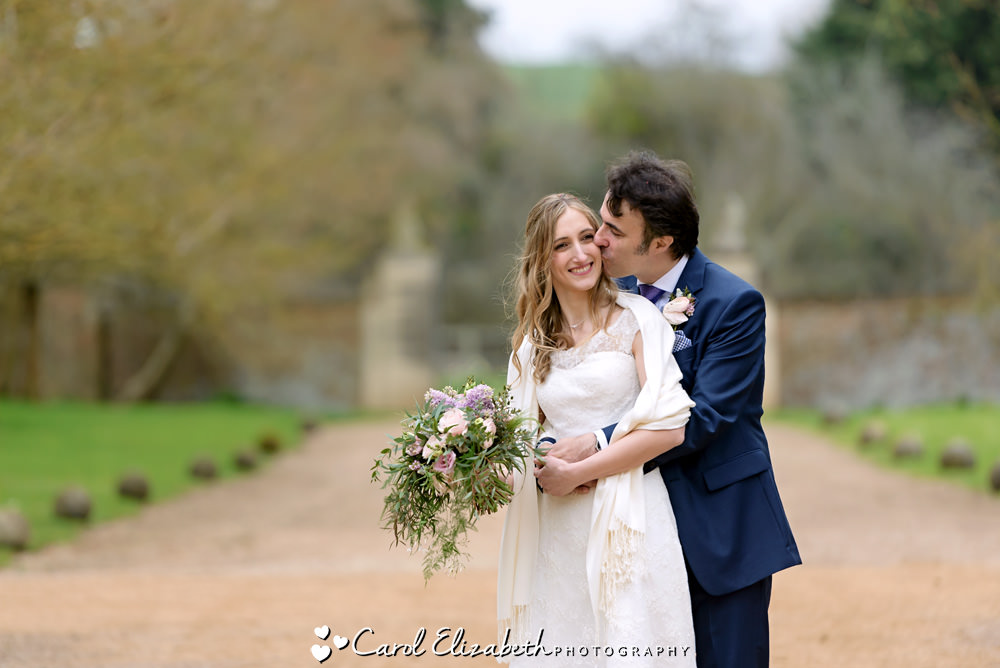 Bride and groom relaxed portrait photography in Buckinghamshire
