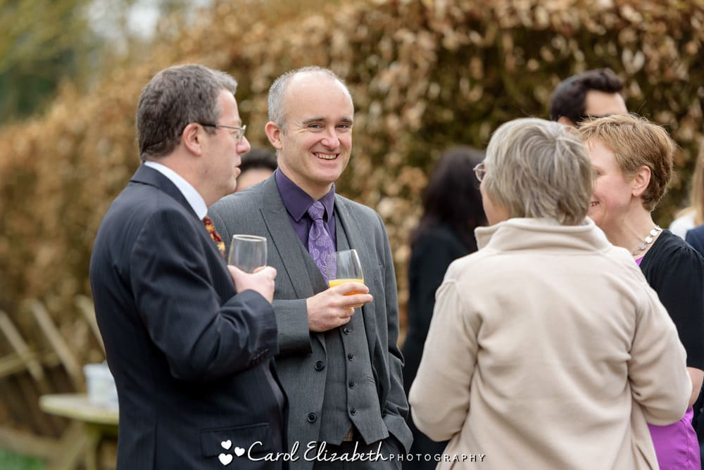 Relaxed wedding photography at Nether Winchendon House