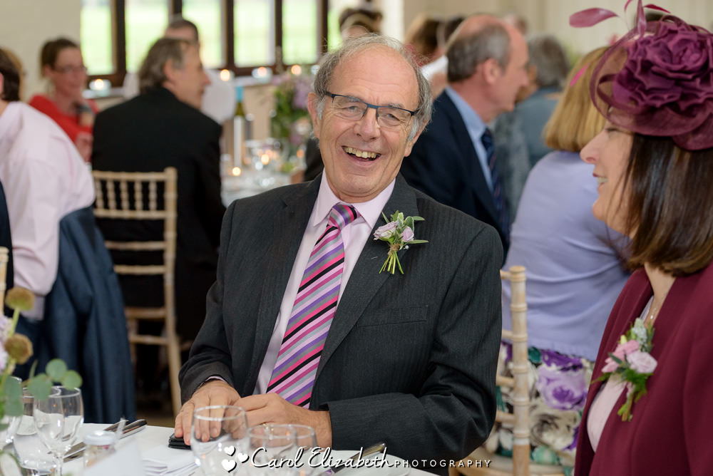 Guest enjoying wedding reception