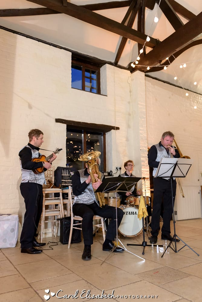 OJ's ragtag swing and gypsy jazz orchestra at wedding