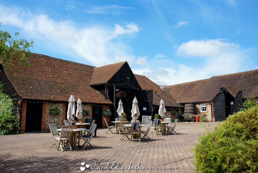 Wedding photography at Old Luxters Barn in Oxfordshire