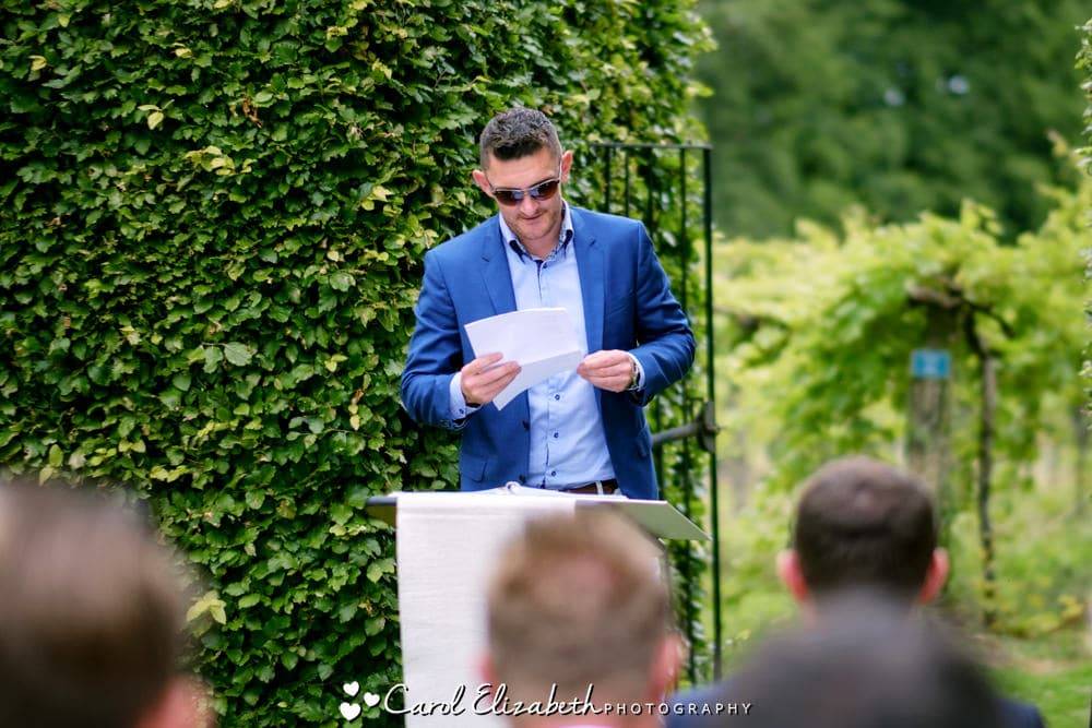 Outdoor wedding ceremony in Henley