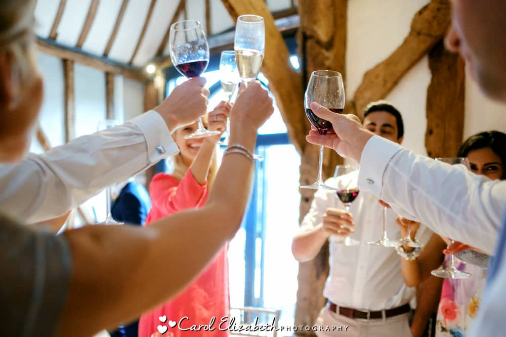 Wedding toast at Old Luxters reception