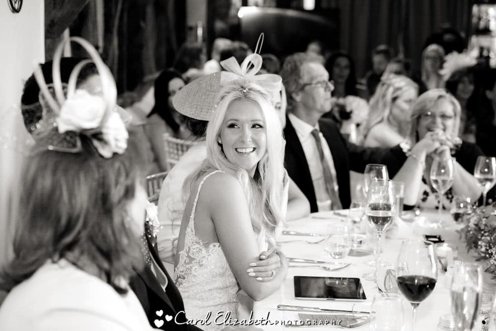 Wedding speeches at Old Luxters by Carol Elizabeth Photography