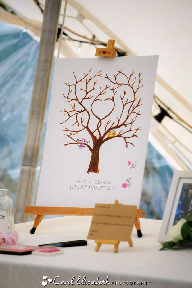 Wedding fingerprint tree
