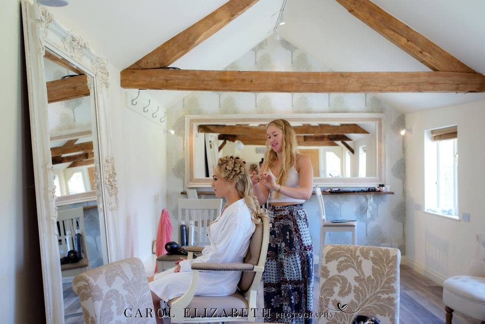Caswell House weddings bridal preparations barn