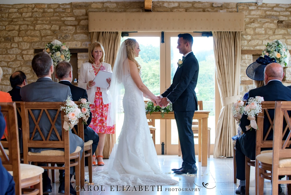 Caswell House wedding photography of the ceremony