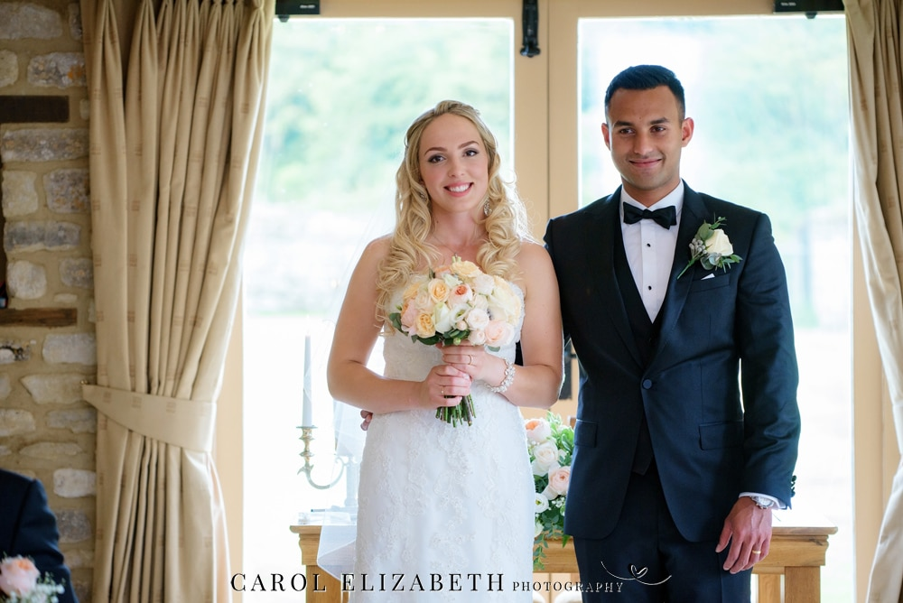 Wedding blessing at Caswell House