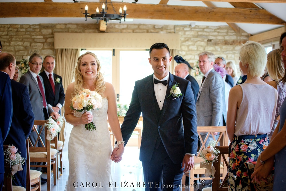 Bride and groom at Caswell House ceremony