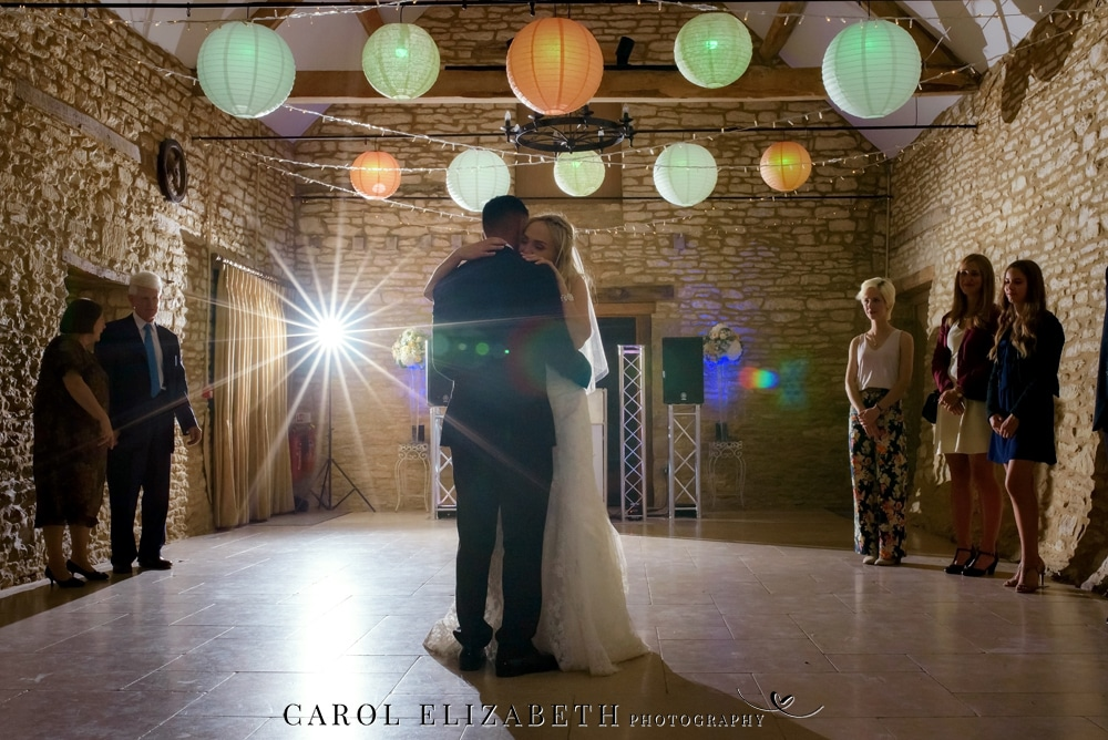 Caswell House wedding photographer - first dance