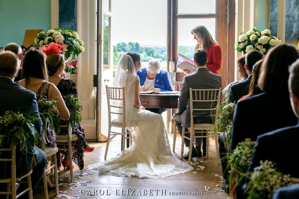 Wedding ceremony at Kirtlington Park
