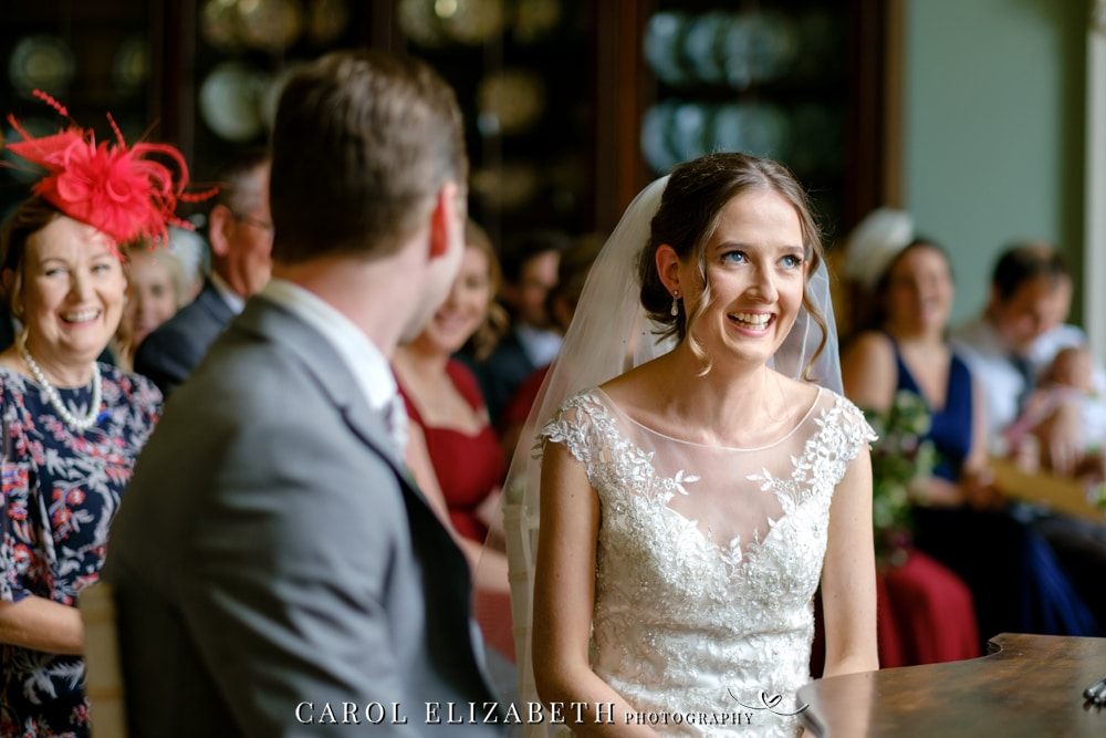 Bride at Kirtlington Park wedding
