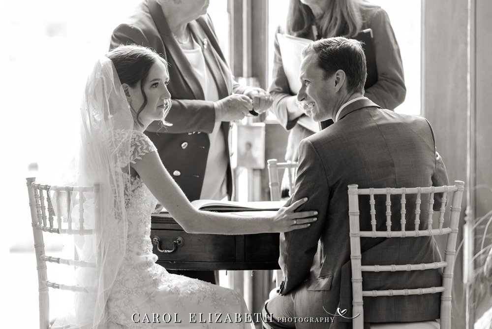 Kirtlington Park wedding ceremony photo