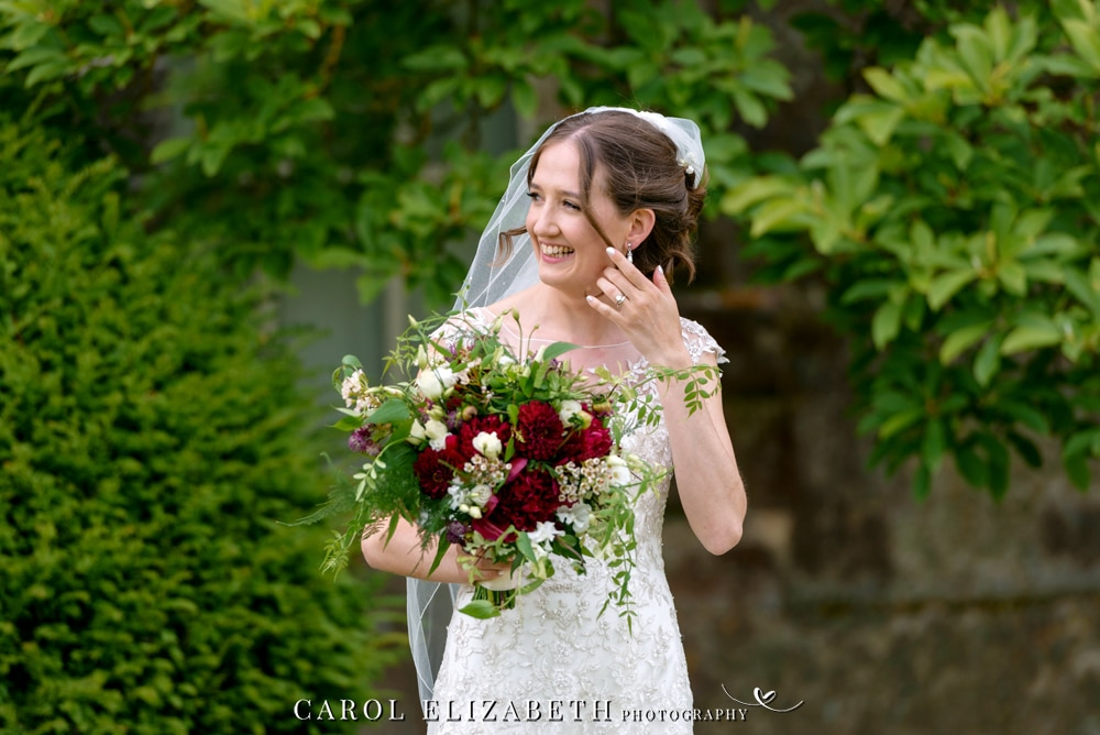 Bridal portraits at Kirtlington Park wedding in Oxfordshire