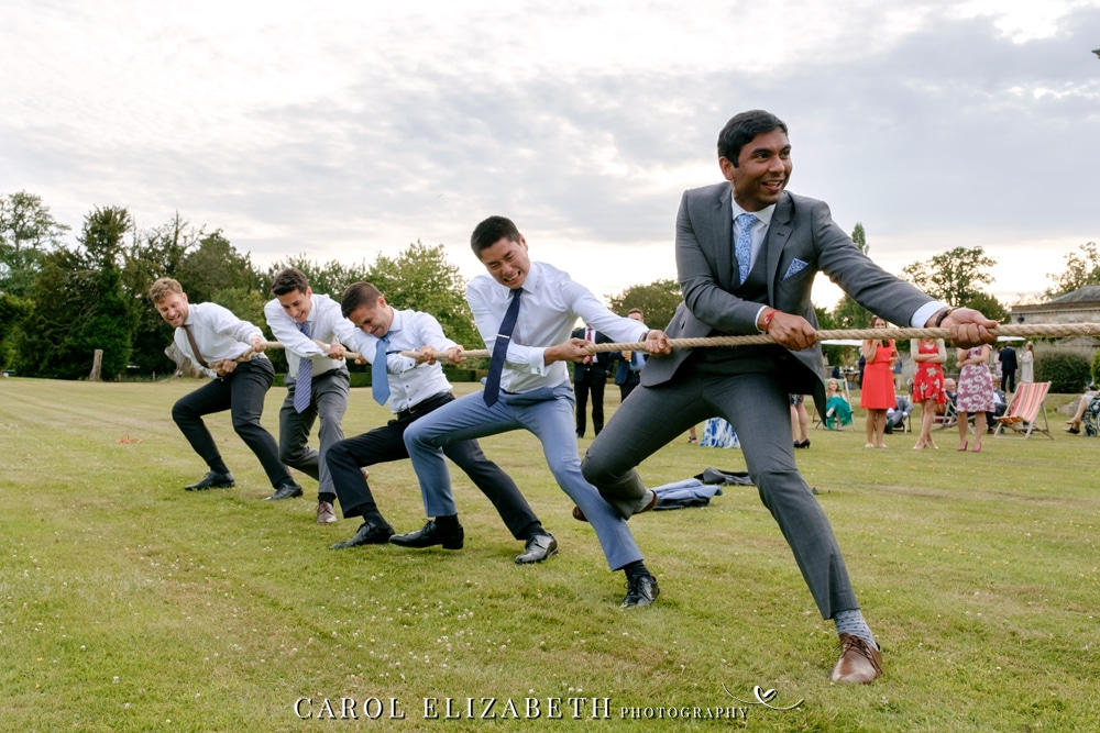 Wedding tug of war lawn games