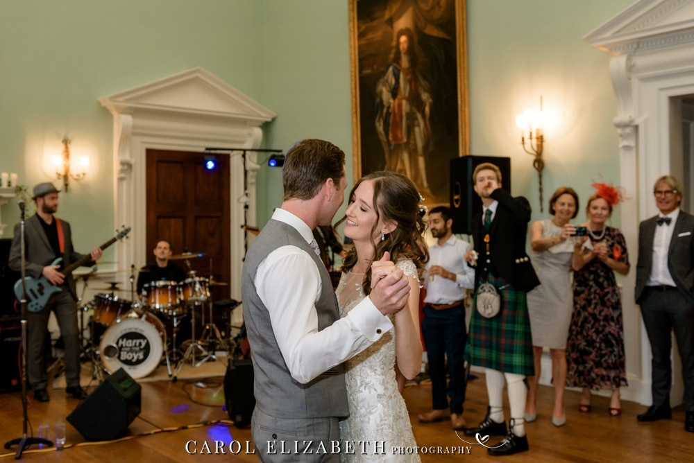 First dance at Kirtlington Park wedding