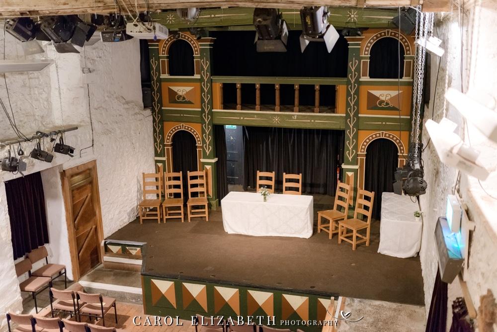 Unicorn Theatre in Abingdon stage and balcony