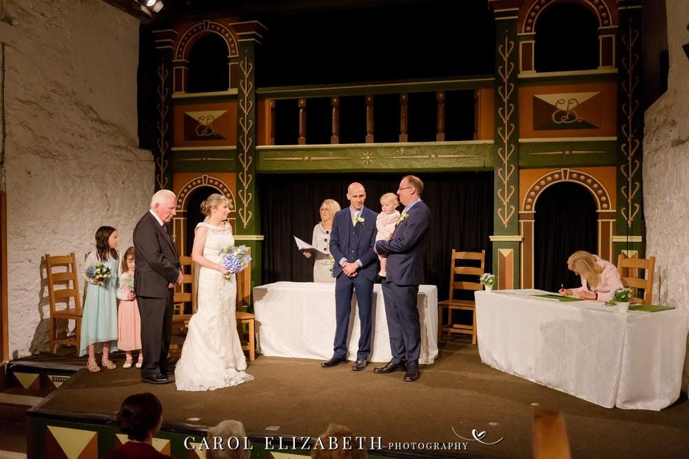 Wedding ceremony in a theatre - Unicorn in Abingdon