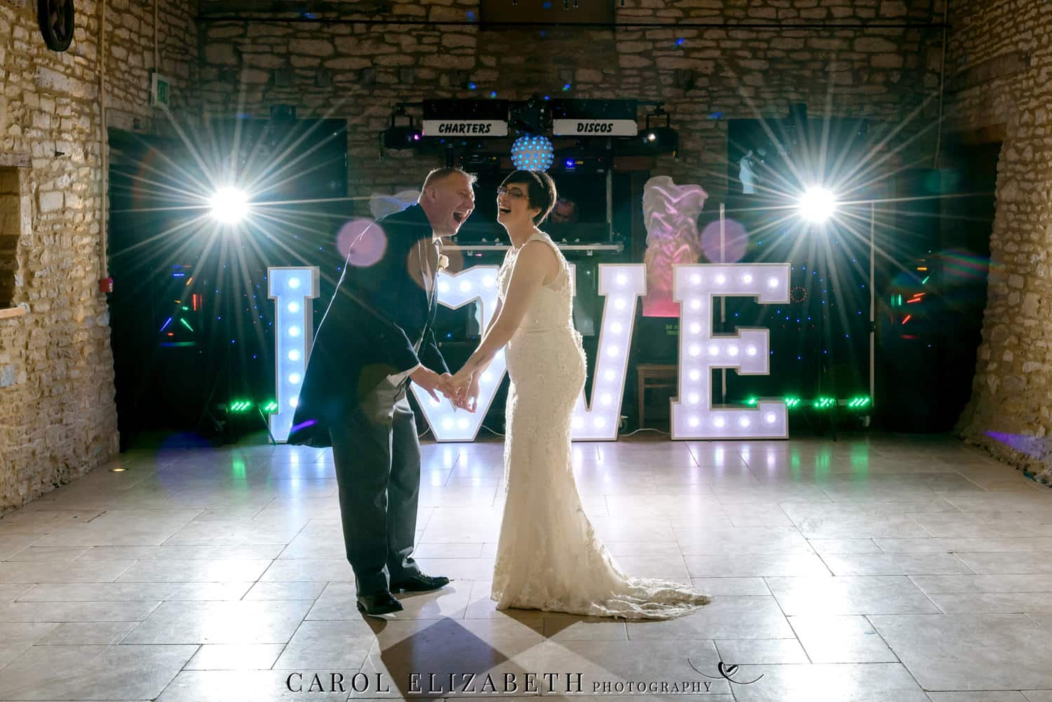 First dance at Caswell House wedding