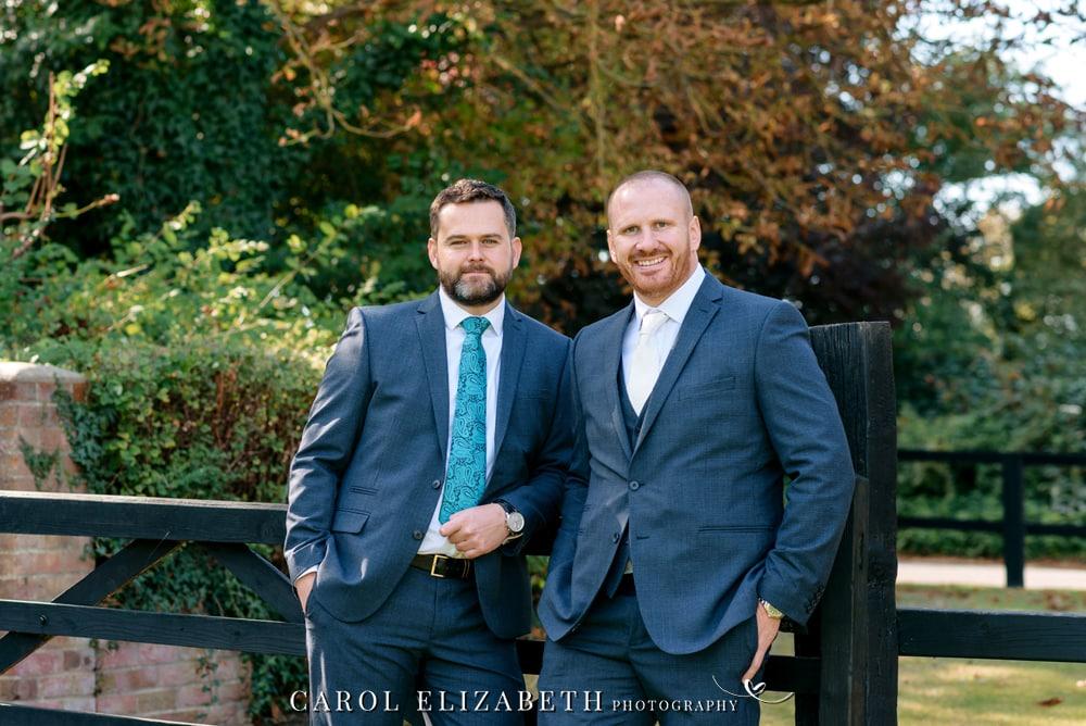 Stylish wedding photography at Lains Barn