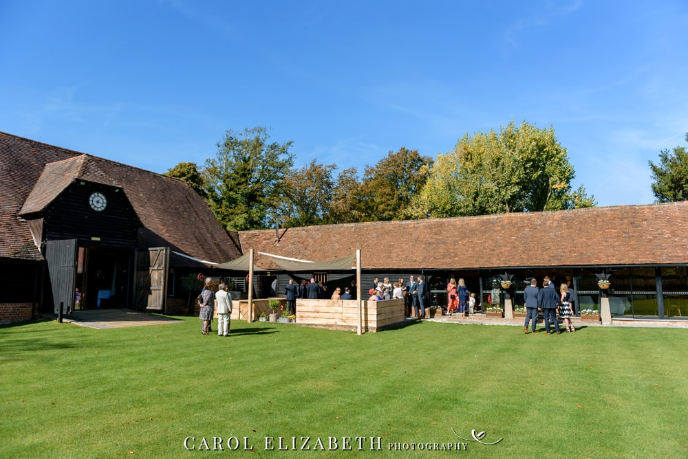 Informal wedding photography at Lains Barn wedding venue in Oxfordshire