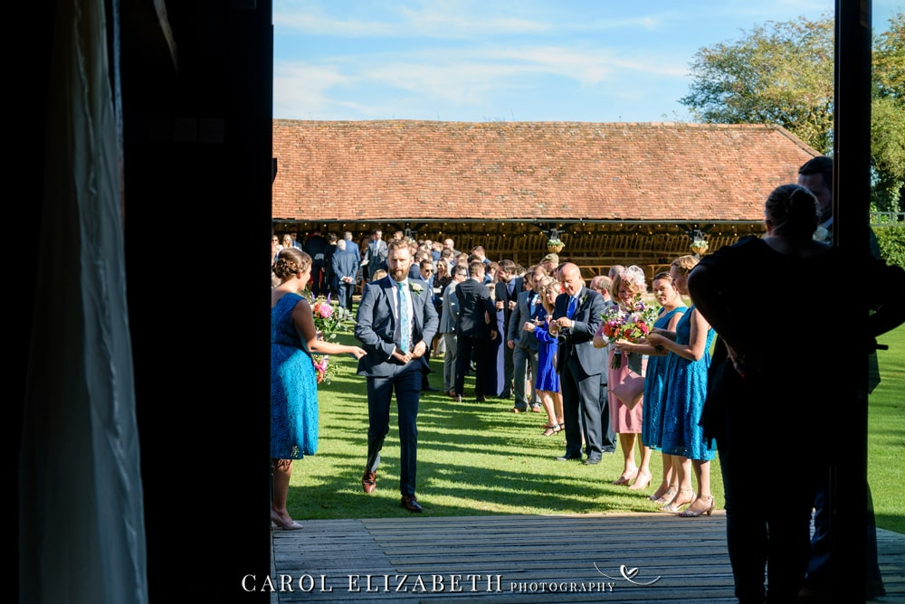 Wedding photography at Lains Barn wedding venue in Oxfordshire