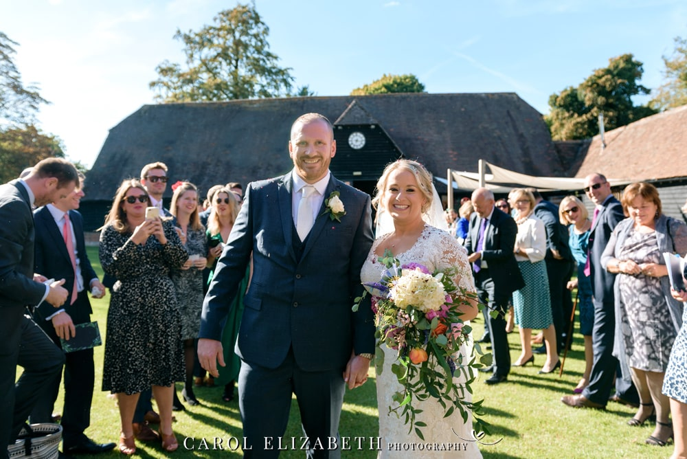 Summer wedding photography at Lains Barn