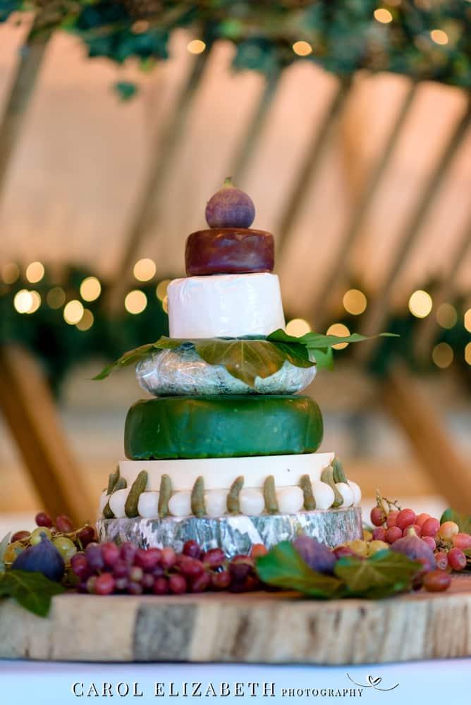 Cheeses cake at Lains Barn wedding