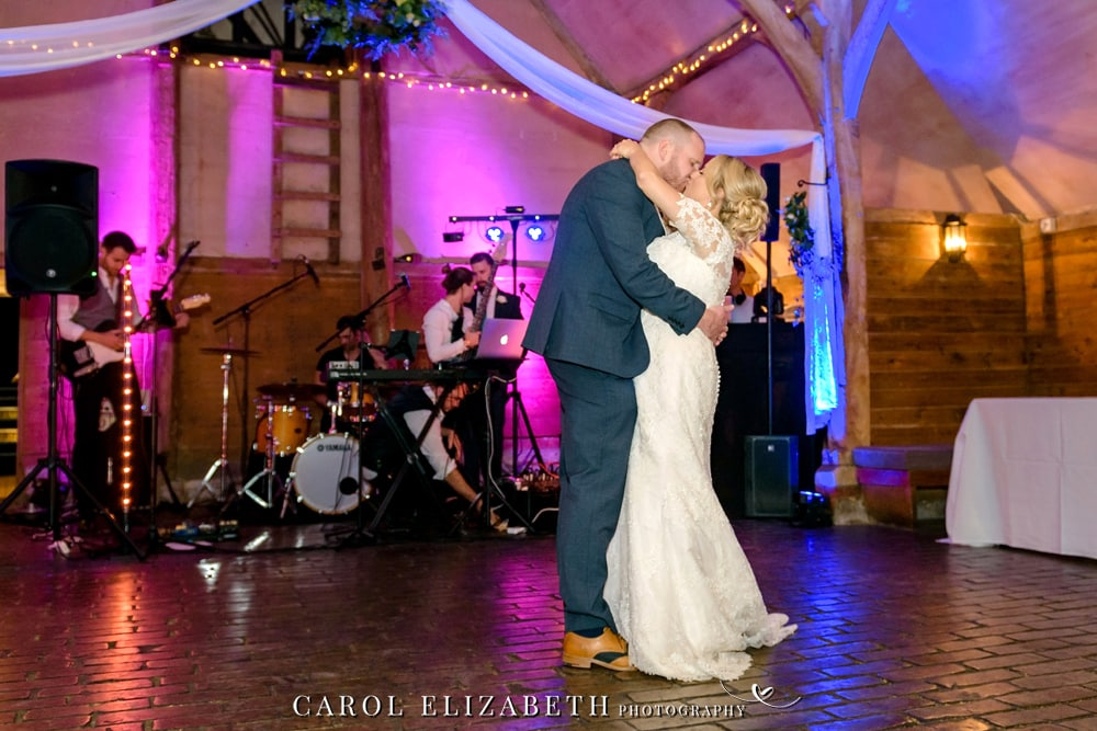 Lains Barn wedding first dance with Visually Sound