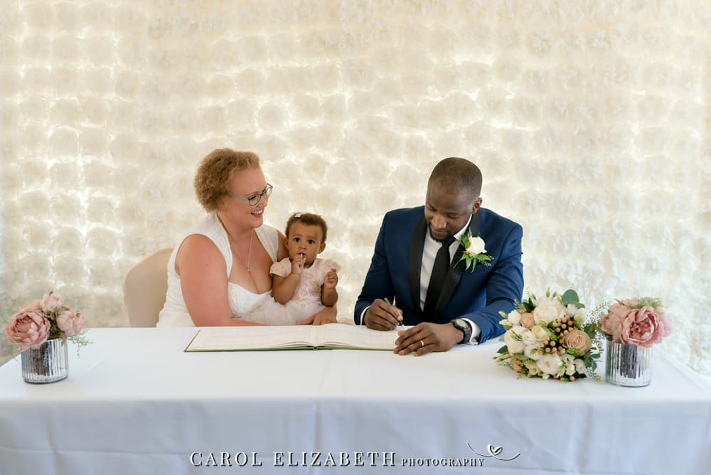Civil wedding ceremony at Steventon House Hotel in Oxfordshire