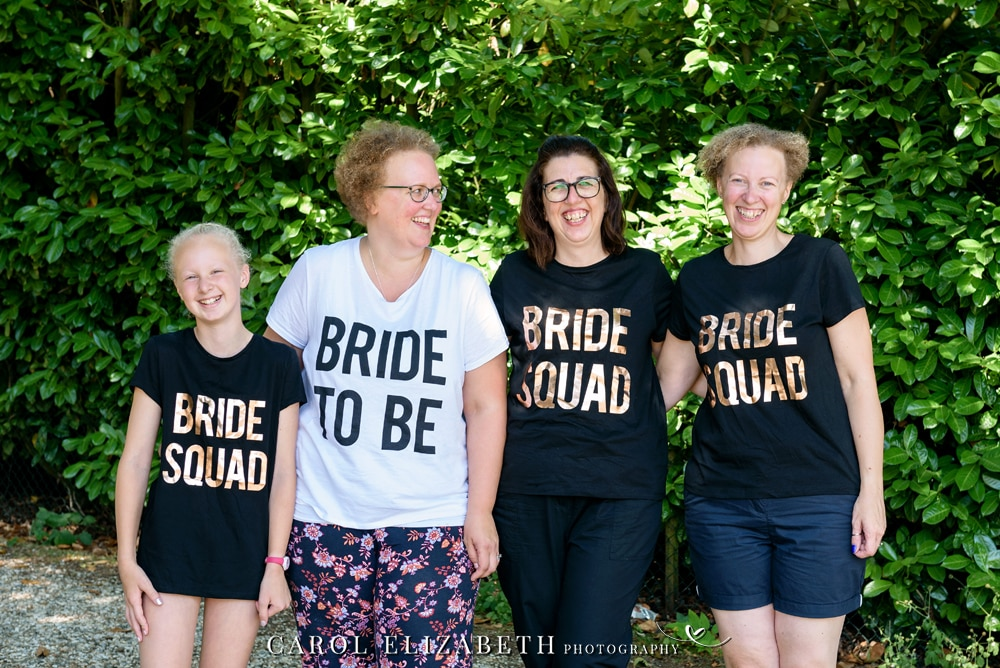 Steventon House wedding bride squad