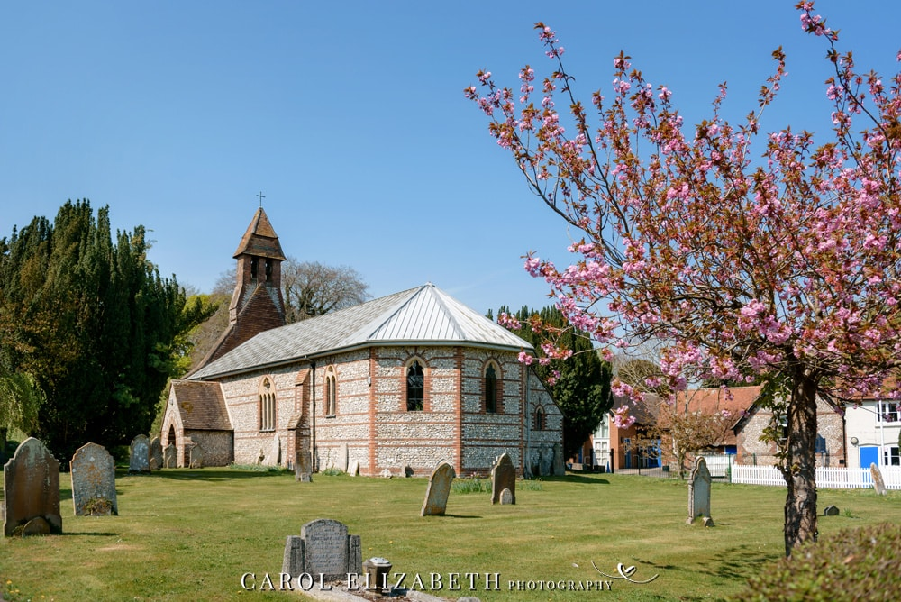 Weddings at Christ Church Hatherden . Relaxed and natural wedding photography by Carol Elizabeth Photography
