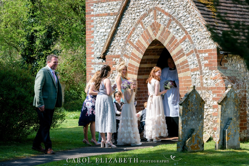 Weddings at Christ Church Hatherden. Stylish and romantic wedding photography in Hampshire