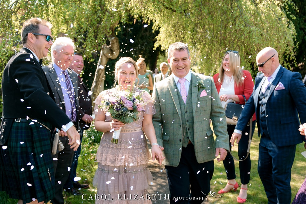 Hampshire wedding photography at Christ Church Hatherden. Elegant wedding photography by Carol Elizabeth Photography
