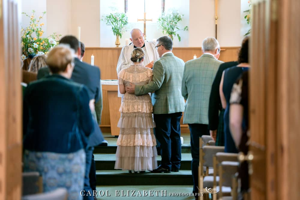 Hampshire wedding photography at Christ Church Hatherden. Relaxed and natural wedding photography by Carol Elizabeth Photography