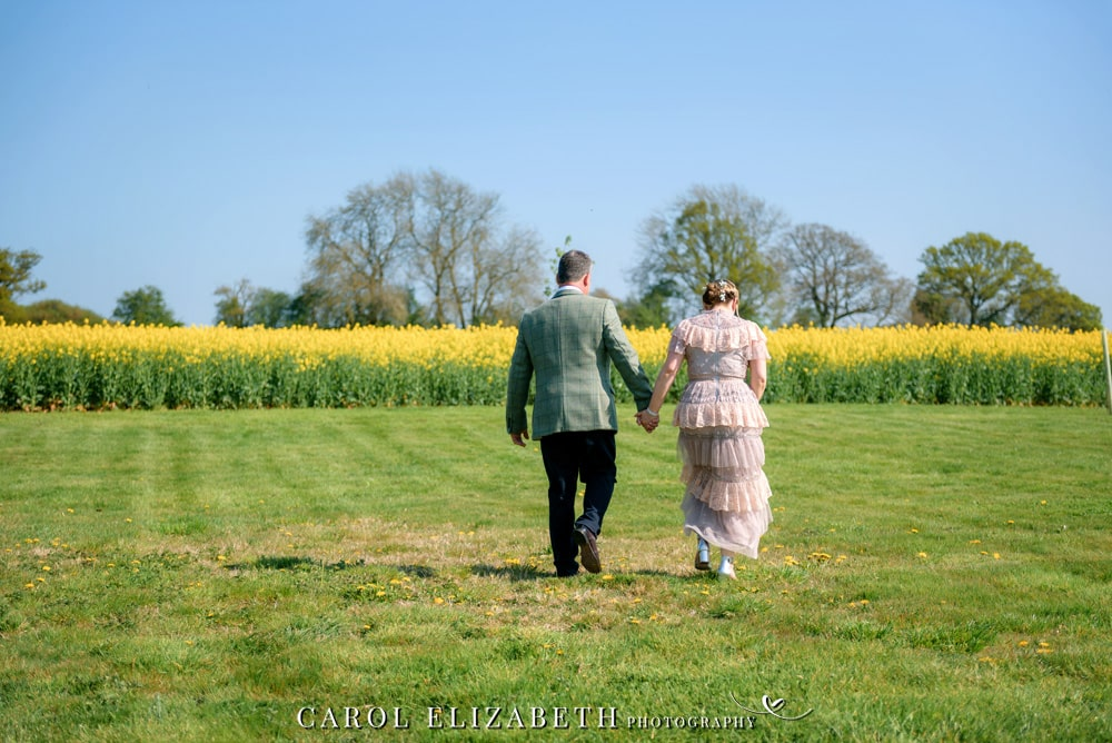Hampshire wedding photographer at Old Hatherden Dairy. Elegant wedding photography by Carol Elizabeth Photography