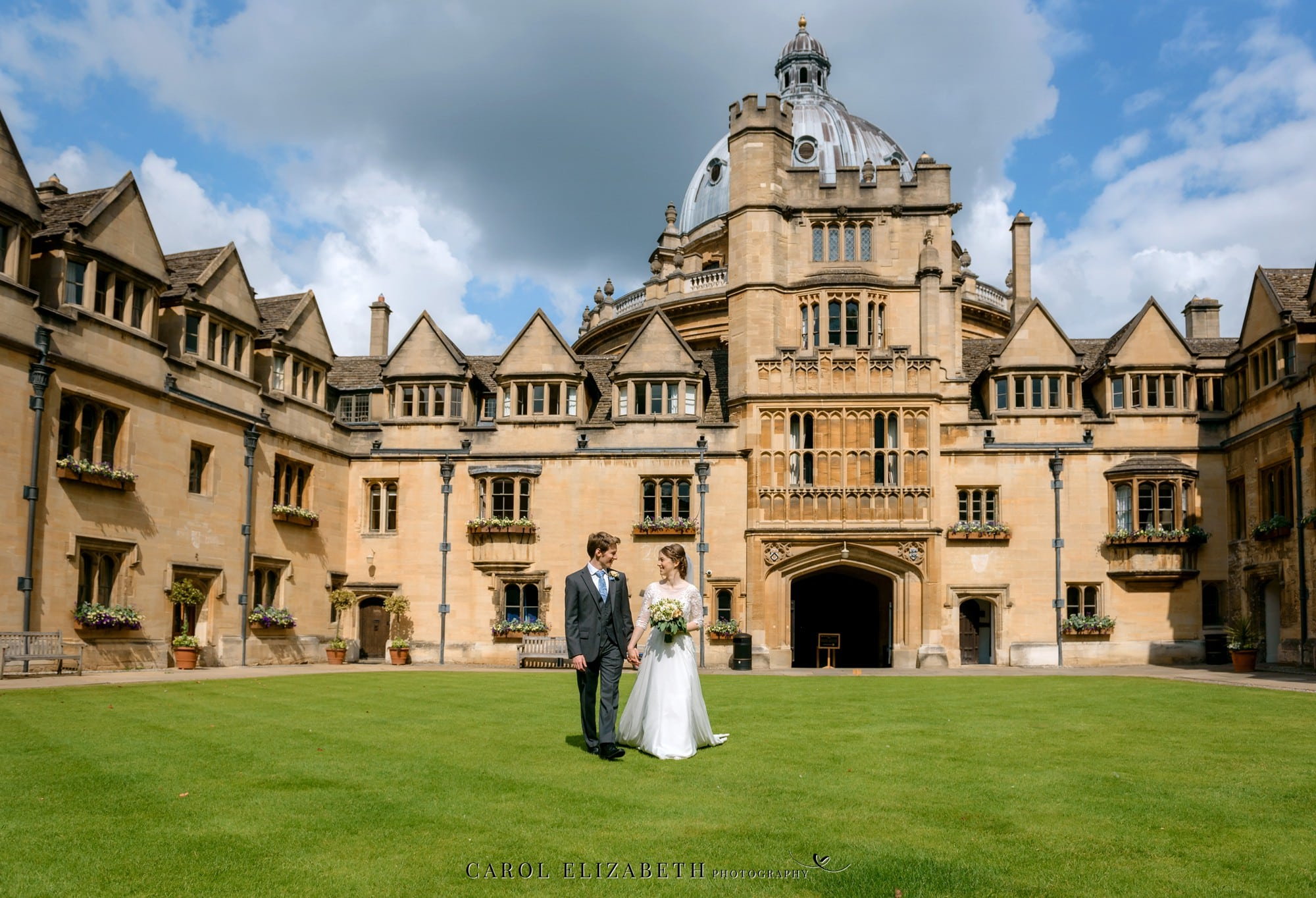 Brasenose college wedding - Oxford College wedding photographer